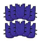 Ronex Sports Pack de Petos de Entrenamiento 10 Unidades para niños, jóvenes y Adultos (Petos Deportivos, Petos de Futbol Purpura, Joven (9-15...