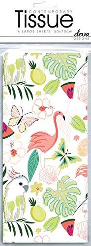 Katie Fythische Flamingo Tissue Gedrukt Gedessineerd Weefsel Inpakpapier Deva Ontwerpen Luxe 4 Vellen 50 x 70 cm