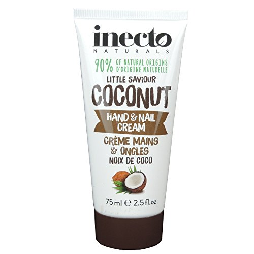 Inecto Hand & Nail Cream Pure Coconut/Hand & Nail Cream with Coconut Oil - 75ml