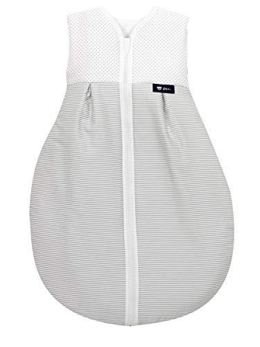 Set Alvi Kugelschlafsack Thermo mit Stoffwindel von Kinderhaus Blaubär | Baby-Schlafsack ärmellos | Winterschlafsack 2,5 TOG | Kinderschlafsack