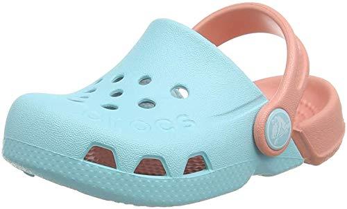 CROC Kids Electro (Toddler/Little Kid) Ice Blue/Melon 13 Little Kid
