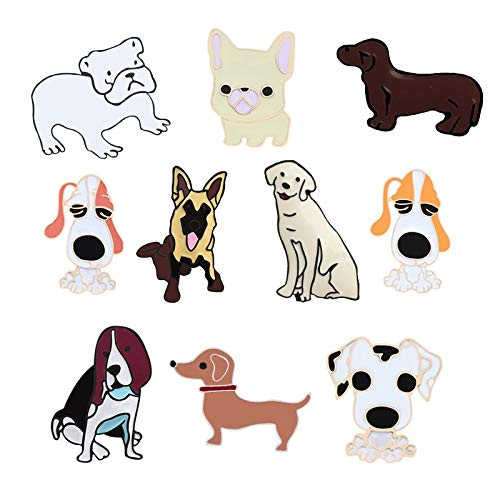ZSCZQ Terrier Perros broches alfileres Insignia Colgante alf