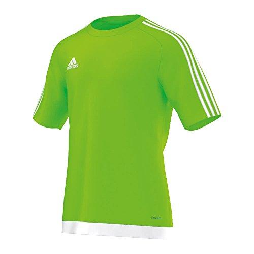 adidas Estro 15, T-Shirt Uomo, Multicolore (Verde/Blanco), L
