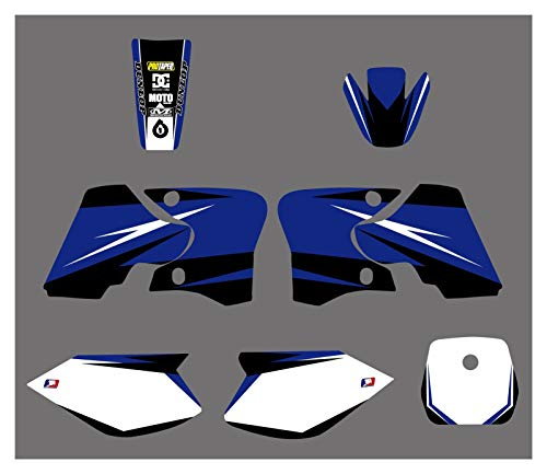 XIAOZHIWEN Motorcycle Sticker Decal Kit Blue Background Graphic Stickers For Yamaha TTR90 2000-2007 Universal