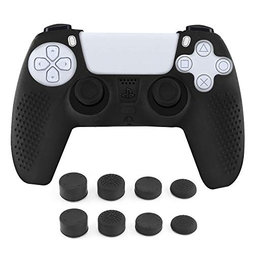 PS5 Controller Skins Anti-Slip Silicone Cover Protector Case Handle Sleeve Dustproof for PS5 Playstation /PS5 Controller Cover with 8 Thumb Grips