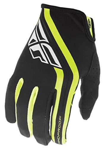 Fly Racing Unisex-Adult Windproof Lite Gloves (Black/Hi-Vis, Large)