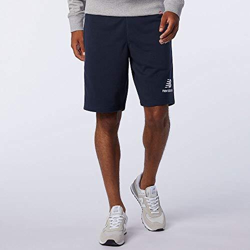 New Balance MS03558 Pantalón Corto Deportivo para Hombre, Azul Marino, Talla: M