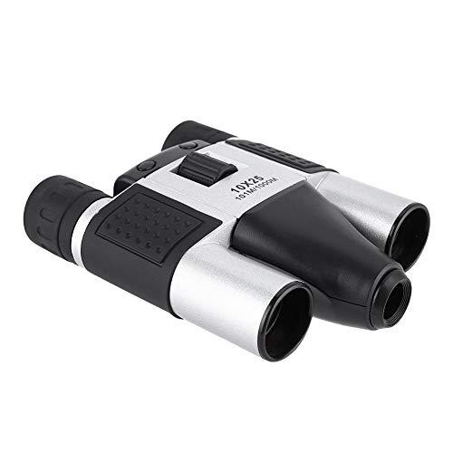 Bewinner Telescopio Binocular, binoculares 10X25 de Alta Potencia 1.3MP CMOS HD para observación de Aves/Camping/Senderismo/Partido, grabación de Video DVR con telescopio de cámara Digital