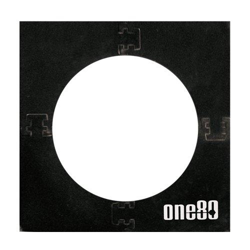 ONE80 Unisex-Adult Zubehör Square Knock-Down Dartboard Surround, schwarz