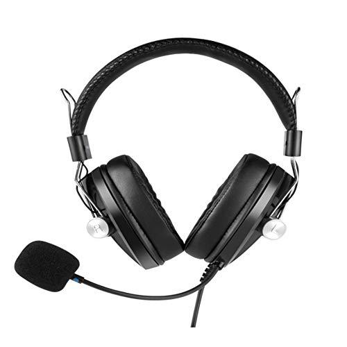 Auriculares con cancelación de ruido Electro-audio Auriculares Computadora Auricular USB con tarjeta de sonido Lección en línea para estudiantes Examen de audición y conversación en inglés Auric