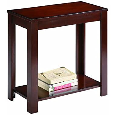 Crown Mark Pierce Chair Side Table, Espresso