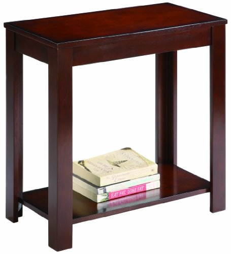 Crown Mark Pierce Chairside Table, Espresso