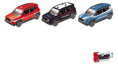 Mondo Jeep Renegade 1/43 Polizia/Carabinieri/Vigili del Fuoco Modellismo Auto, Multicolore, 8001011532131