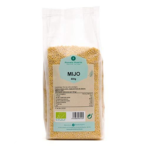 Planeta Huerto | Mijo Pelado Ecológico en Bolsa de 500 gr | Cereales - Súper Alimentos Orgánicos, Biológicos Ricos en Nutrientes y Fibra, Bajos en Grasas y Azúcares Para Recetas de Cocina Saludable