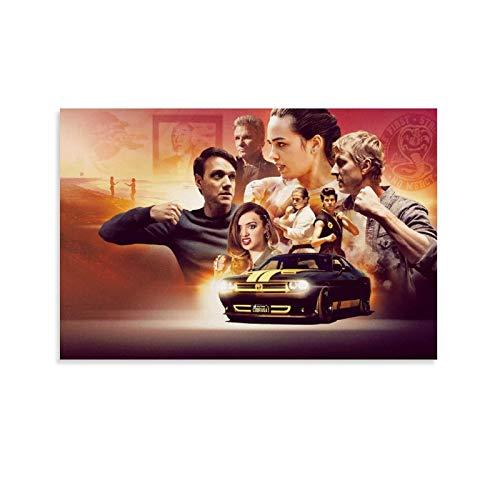 TIANDOU Cobra Kai Temporada 3 Poster dekorative Malerei Leinwand Wandkunst Wohnzimmer Poster Schlafzimmer Malerei 12x18inch(30x45cm)