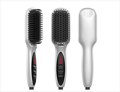 2 en 1 alisador de pelo de cerámica/rizador de pelo/peine recto, clip de pelo en clip