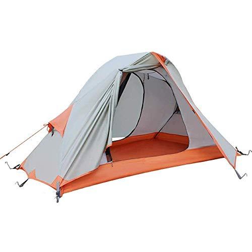 Nologo Durable Tienda de campaña A Prueba de Lluvia y Blizzard Tiendas de campaña for 1-2 Personas, 4 Temporada de Camping Familia Tiendas de campaña, 210 * 138 * 110cm,Fácil de Instalar