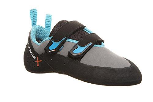 Climb X Rave 2.0 Climbing Shoe with Free Sickle M-16 Climbing Brush (Men's 7.5, Gray)