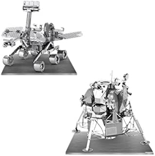 Metal Earth 3D Laser Cut Models - Apollo Lunar Module AND Mars Rover = SET OF 2