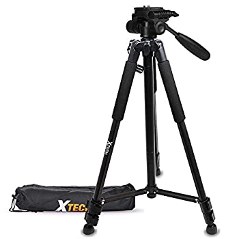 Xtech Pro Series 72' inch Tripod with Carrying Case 3 Way Pan-Head for Canon Powershot G5 X G9 X G3 X SX410 is SX530 HS SX60 HS G7 X D30 SX520 HS SX400 is G1 X Mark II SX700 HS