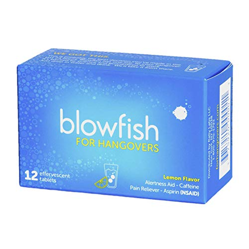 Blowfish for Hangovers - FDA-Recognized Hangover Remedy - Scientifically Formulated to Relieve Hangover Symptoms Fast (12 Tablets)