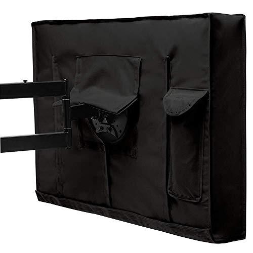 Cubierta de silla LXLA - Patio Televisión Cubierta - resistente a la intemperie al aire libre universal del protector de la pantalla LCD / LED / Plasma Televisión - Negro (Tamaño, 50-52inch) ,, 55-58i