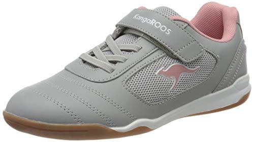 KangaROOS Unisex Kinder Nicourt EV Sneaker, Vapor Grey/Dusty Rose, 30 EU