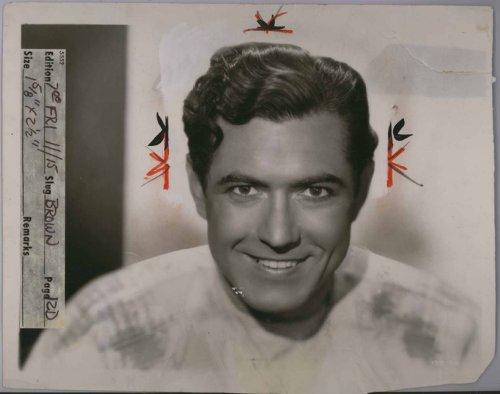 "Johnny Mack Brown (University of Alabama Football) 8"" X 10"" Vintage Original Photo"