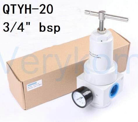 HYY-YY Envío gratis Neumático Qtyh alta presión 0~40 Barra regulador de aire con puerto de calibre 1/4 3/8 1/2 2 pulgadas BSP 1/2'Qtyh-15/10 08 25 (Color : QTYH 20)