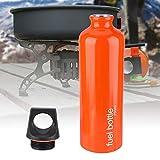 DAUERHAFT Botella de Combustible Tapa de Sellado a Prueba de Naranja 7072 Aleación de Aluminio, para Camping, Senderismo, Picnic, mochileros y Trabajos de Cocina al Aire Libre