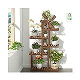 HHTX Soporte para Plantas con Pedestal de Madera de Varios Niveles, Estilo Molino de Viento, Soporte para macetas, Estante de exhibición para jardín Interior y Exterior (tamaño: 6 Niveles)
