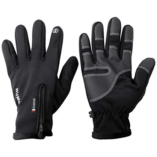 ZY123 Guantes cálidos para Dedos completos, Calentador de Manos Impermeable a Prueba de Viento, Guantes de Pantalla táctil Antideslizantes de algodón térmico para Hombres y Mujeres