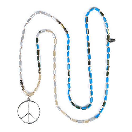 KELITCH 6mm Kristall Perlen Lange Stränge Halskette Exquisite Achat Buddha Charme Quaste Halsketten