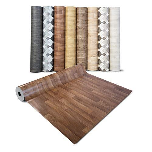 Pavimento PVC Adesivo - Rivestimento Pavimento Finto Legno, Parquet - Copri Pavimento Vinilico a Rotolo, Su Misura - 100x100 cm - Rovere marrone