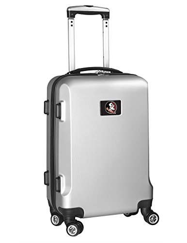 Denco NCAA Florida State Seminoles Carry-On Hardcase Luggage Spinner, Silver