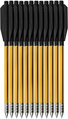 """Feida 6.5"""" Aluminium Crossbow Bolts Arrows for 50lb/80lb Pistol Crossbow Precision Target, Great for Practicing Shooting Target, Small Hunting, 12/36/60 Pack"""