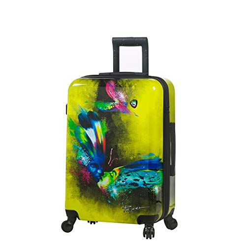Mia Toro Italy Prado-Butterfly Kiss Hardside 24 Inch Spinner Luggage Suitcase, 74 cm, PBK