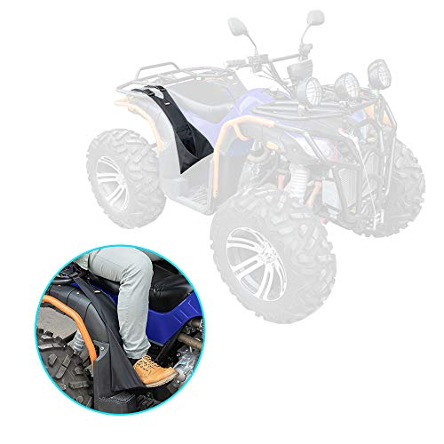 kemimoto 2 Pcs ATV Rear Passenger Foot Pegs Universal Adjustable Foldable Wear-resistant Foot Rest Made of Heavy Duty 600D Oxford Cloth Compatible With Sportsman Rancher Foreman
