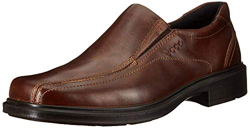 Dress Slip on Leather Shoes for Men Dark Brown