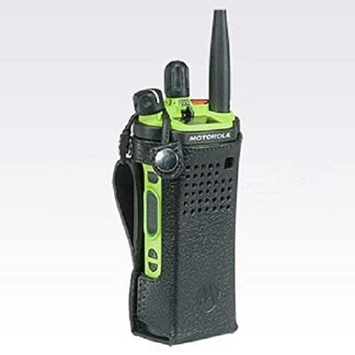 PMLN7905A PMLN5876 - Motorola Leather Carry Case with 3' Fixed Belt Loop for Short Batteries, Radio Not Included