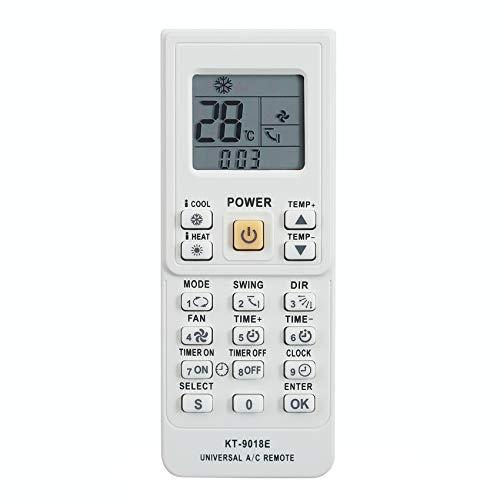 Didad Telecomando Universale per Condizionatore d'Aria per Toshiba Sanyo Fujitsu Aux KT-9018E
