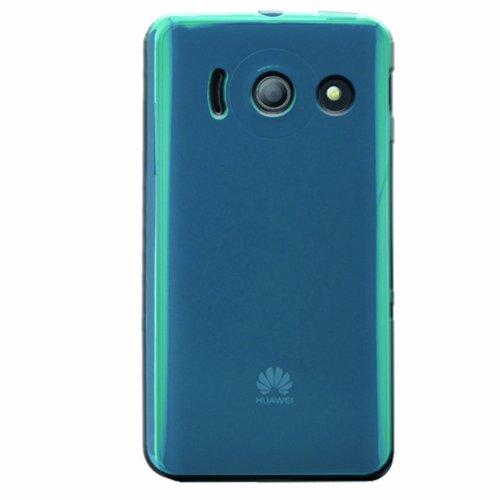 Phonix Gel Protection Plus Hülle mit Bildschirmschutzfolie für Huawei Ascend Y300 blau