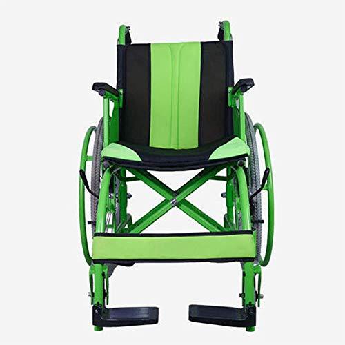 XUSHEN-HU Silla de rehabilitación médica, silla de ruedas, silla de ruedas plegable ligero Suministros Médicos conducción médica for adultos, Silla de ruedas manual de fabricación de edad avanzada con