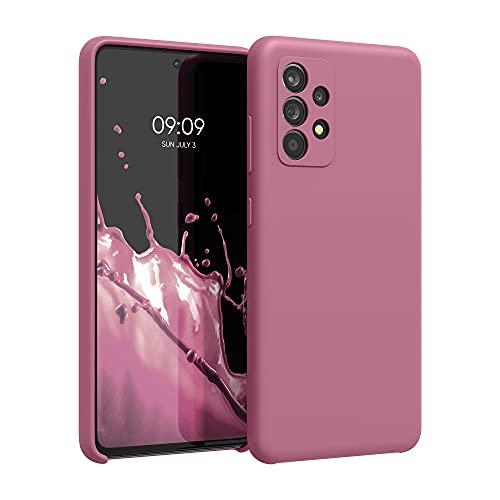 kwmobile Carcasa Compatible con Samsung Galaxy A52 / A52 5G / A52s 5G - Funda de Silicona para móvil - Cover Trasero en Rosa Antiguo