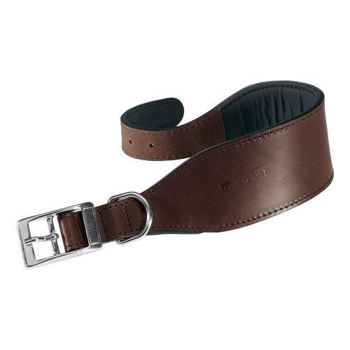 Feplast 75137958 Collar para Galgos VIP Cw15/32, Robusto Cuero de Toro, Suave Acolchado, A: 26 x 32 Cm - B: 15 Mm Marrón