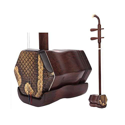Erhu, Palisander Professioneller Erhu, Suzhou nationale Musikinstrument, Erwachsene Kinder Anfänger Übungsinstrument (Farbe: braun) HUERDAIIT (Color : Brown)