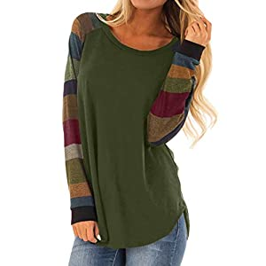 Women's Pullover Tops Loose Lightweight Tunic Shirt