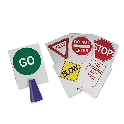 S&S Worldwide Cone Topper Street Sign Board Inserts (Set of 6)