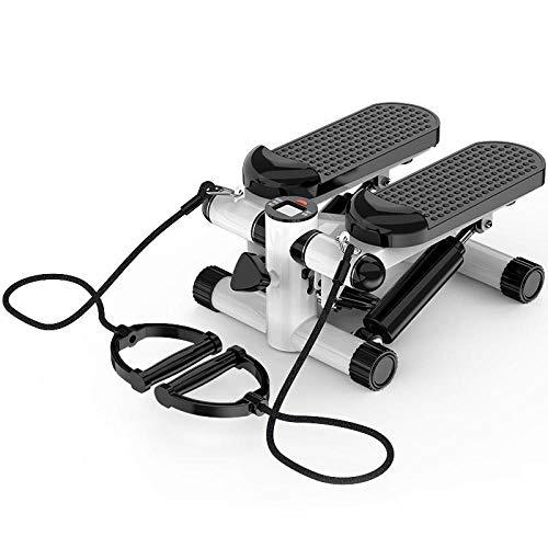 Up-Down-Stepper,Stepper Oscillante Per L'Allenamento Gambe E Glutei, Stepper Domestico, Mini Mini Ellittica Per Arrampicata Su Roccia, Pedaliera Per Perdita Di Peso Sportiva Con Fune Multi-Funzione