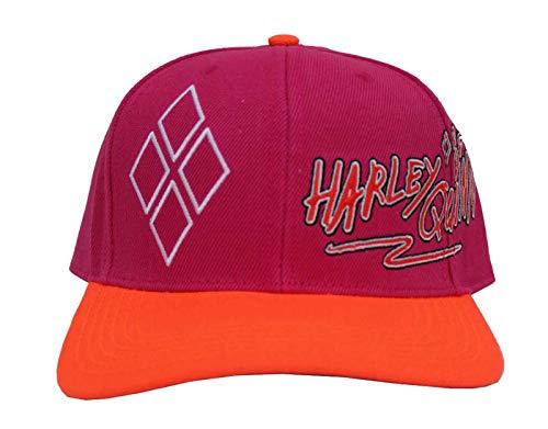 Birds of Prey Baseball Cap Harley Quinn Logo Printed Bill Nue offiziell Snapback